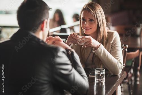 Photo  Romantic coffee break