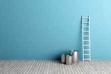 Ladder And Paint Buckets By Th...