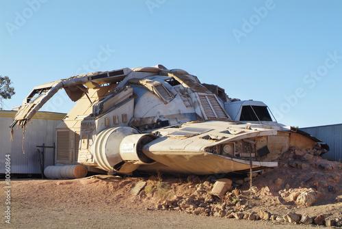 Montage in der Fensternische UFO Australia, Coober Pedy