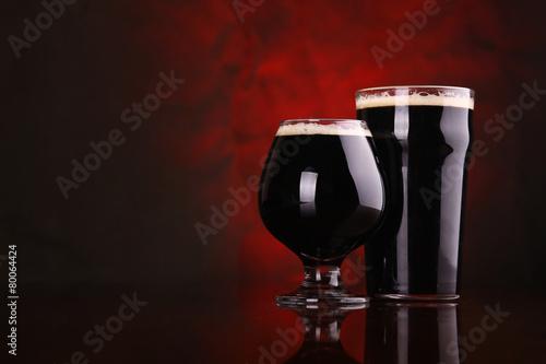 Fotografia Dark stout beer