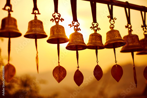 Photo sur Aluminium Buddha Nepaly Bells
