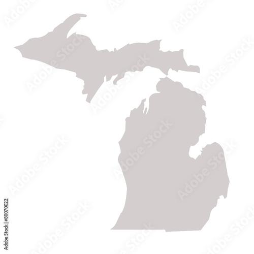 Michigan State map Wall mural