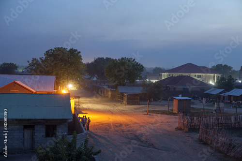Staande foto Afrika Juba, South Sudan at night