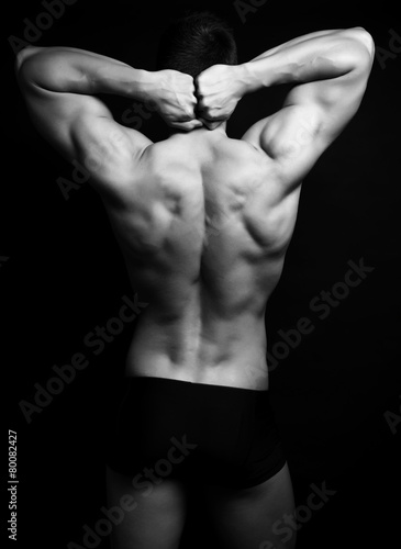Fototapety, obrazy: handsome young bodybuilder