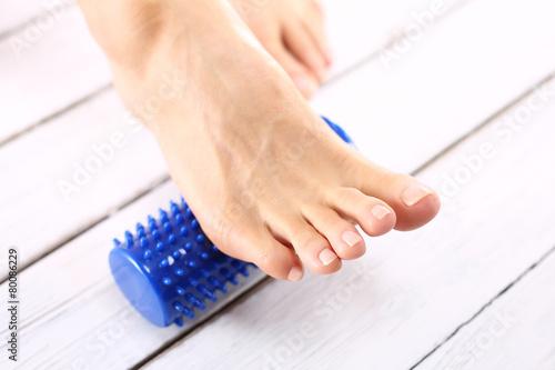 Fototapeta Rehabilitacja stopy, akupresura obraz