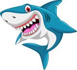 Fototapeta Child room - angry shark cartoon