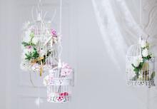 White Decorative Cage With Bea...