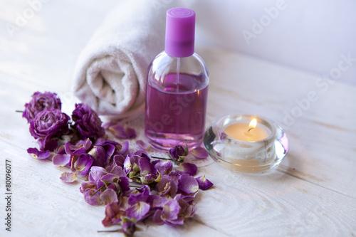 Fotografie, Obraz  Nastavení lázně, růžové růže, luxusní Spa Resort