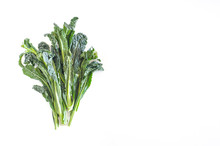 Bunch Of Kale On White Backgro...