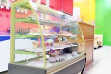 Tasty Desserts In Cafeteria