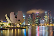 ArtScience Museum In Singapore With Central Business District