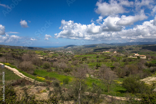 Foto op Plexiglas Cyprus View of the mountain villages and fields on the island of Cyprus