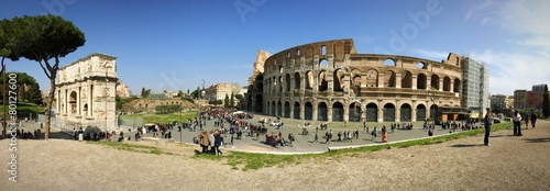 Sunny day at colloseum Canvas Print