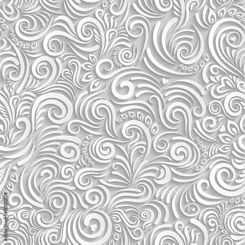 White floral paper background