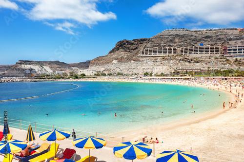 Tuinposter Canarische Eilanden Playa de Amadores beach. Gran Canaria, Canary Islands. Spain
