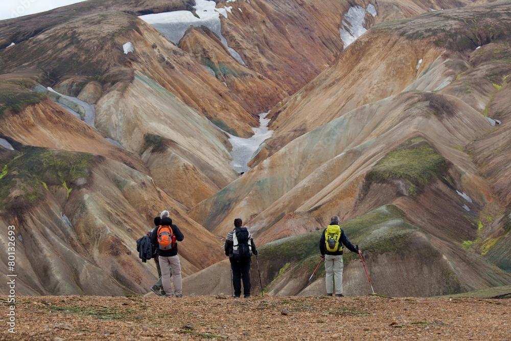 Fototapety, obrazy: Islanda Landmannalaugar