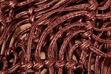 Macrame Leather Belts  Close Up