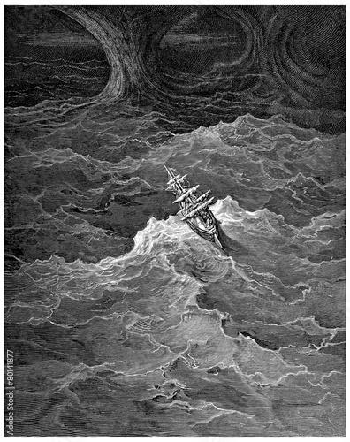 Photo Sailing-Vessel : in the Storm - 3-Mâts dans la Tempête