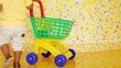shopping trolley and part of body of child taking away cart