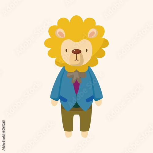 Foto op Aluminium Hoogte schaal animal lion worker cartoon theme elements