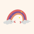 weather rainbow theme elements