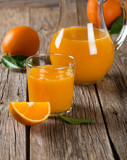 Szklanka soku z pomarańczy