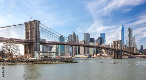 Printed kitchen splashbacks Brooklyn Bridge New York City Brooklyn Bridge Manhattan skyline