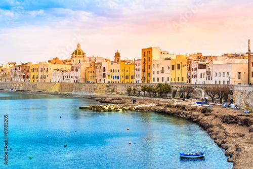 Fotografie, Obraz  Trapani panoramatický výhled, Sicílie, Itálie