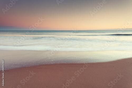 Minimalist seascape at dusk