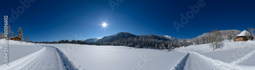 Aluminium Prints Dark grey Winter Panorama 360°