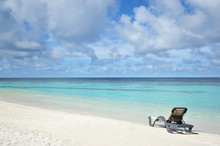 Relax With Beach Chair , Sun, Sea , Sand And Blue Sky
