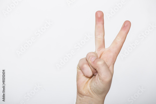 Fotografie, Obraz  due dita che indicano