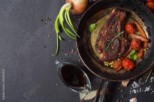 Papiers peints Steakhouse grilled steak