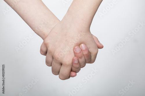 Fényképezés  mani che si toccano insieme