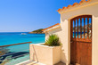 Leinwanddruck Bild - Entrance doot to holiday villa in Camp de Mar, Majorca island