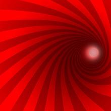 Red Spiral Background