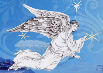 Fototapeta Do kościoła Beautiful angel with wings