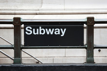 Subway Entrance In Manhattan - New York - USA