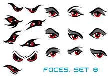Danger Monster And Evil Red Eyes Set