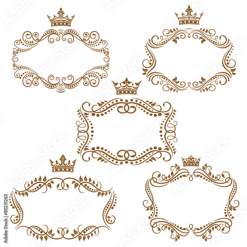 Foto  Royal vintage brown borders and frames