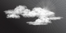 Transparent White Vector Clouds