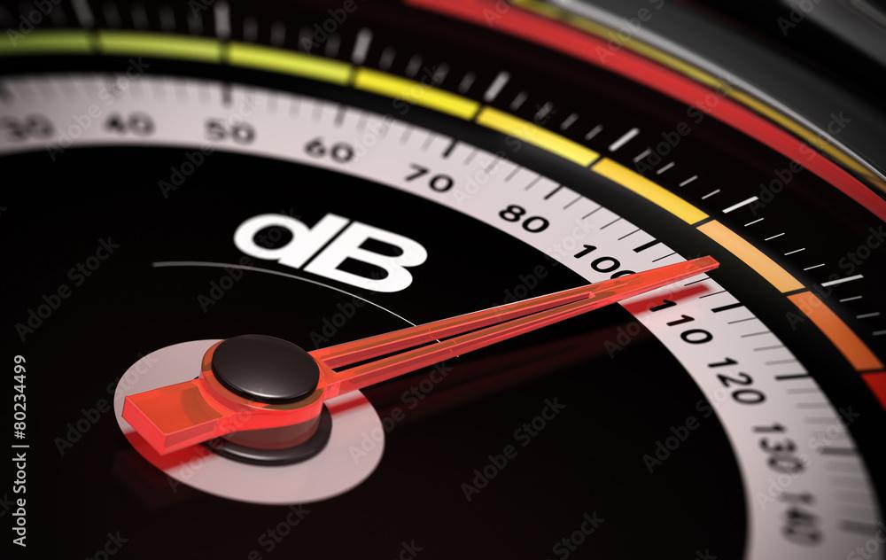 Fototapeta dB, Decibel level