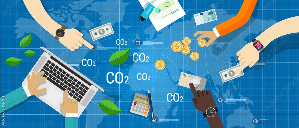 Fototapeta carbon trading emission market