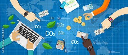 Fotografie, Obraz  carbon trading emission market