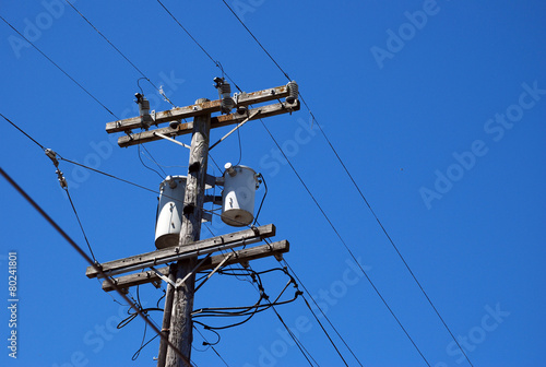 Fototapeta Wooden Electrical Post obraz