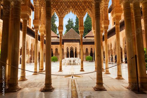 Pinturas sobre lienzo  Alhambra de Granada: The Court of the Lions