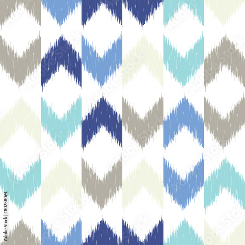 Photo  Vector seamless ikat pattern