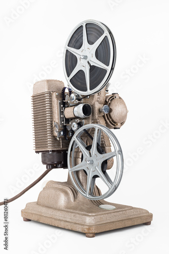 Foto op Plexiglas Retro Angled view of Vintage 8 mm Movie Projector with Film Reels.
