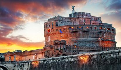 Panel Szklany Rzym Rome - Castel saint Angelo, Italy
