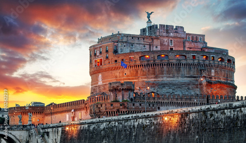Photo Stands Rome Rome - Castel saint Angelo, Italy
